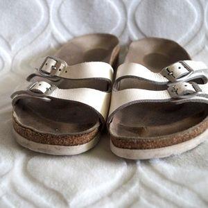 Birkenstock Ibiza White Leather Sandals